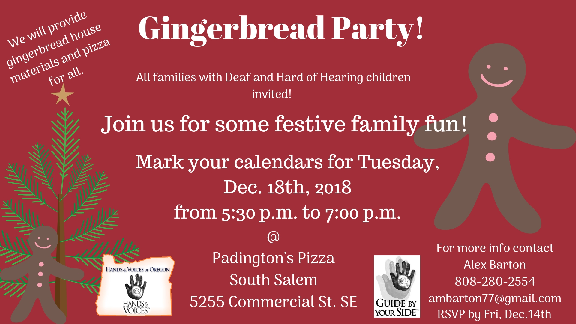 Hands and Voices Annual Gingerbread Night Salem